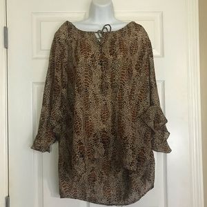 Alligator Skin Print Blouse